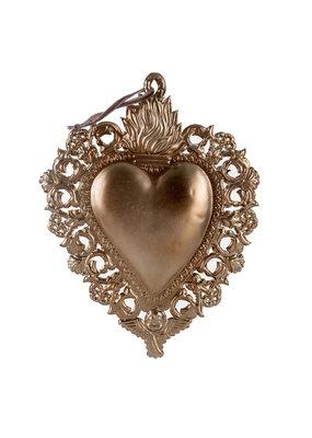 "Indaba Trading Co. Milagro Heart Ornament L 10""x12"""