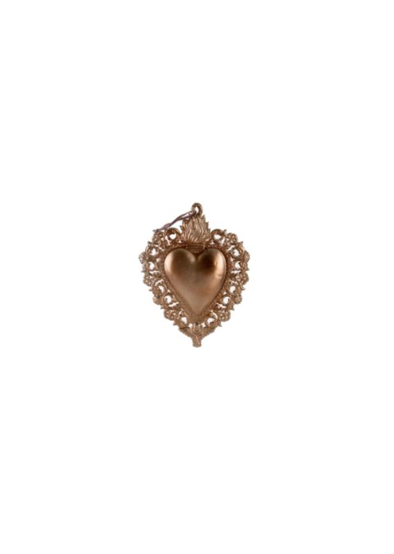 "Indaba Trading Co. Milagro Heart Ornament S 4""x5"""