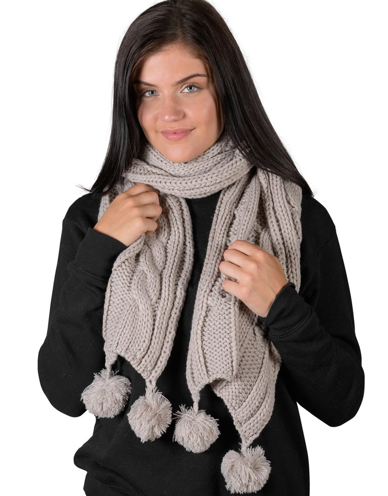 Coffee Shoppe Cable Scarf