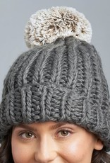 Lemon Winter Cabin Hat With Pom O/S