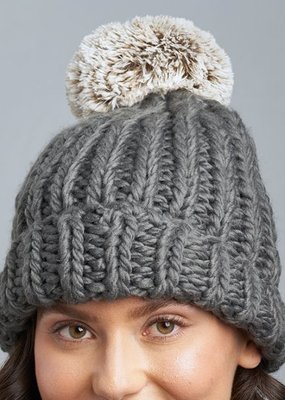 Lemon Winter Cabin Hat With Pom O/S