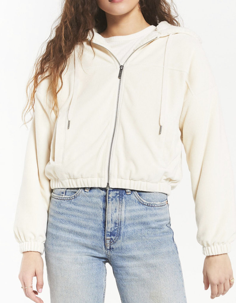 Z Supply Camille Cord Bomber Bone