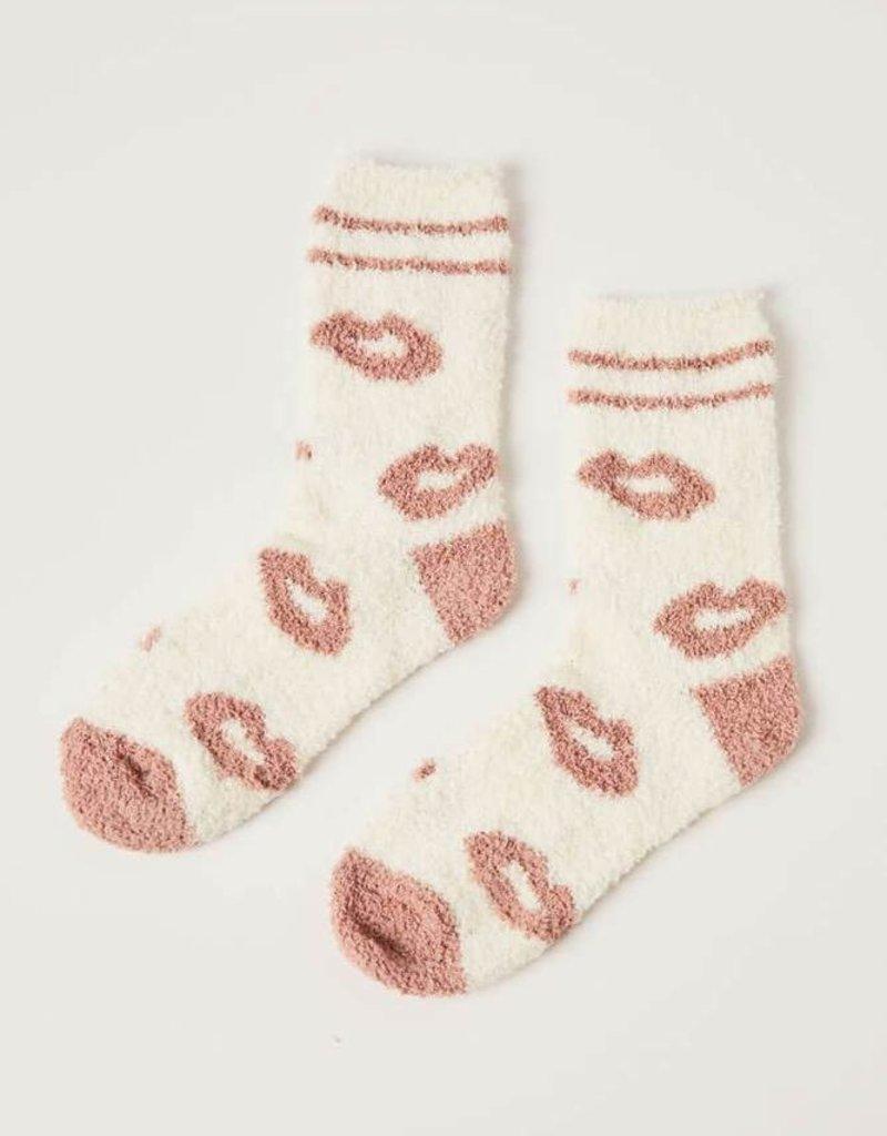 Z Supply Lip Plush Socks Vanilla Ice O/S