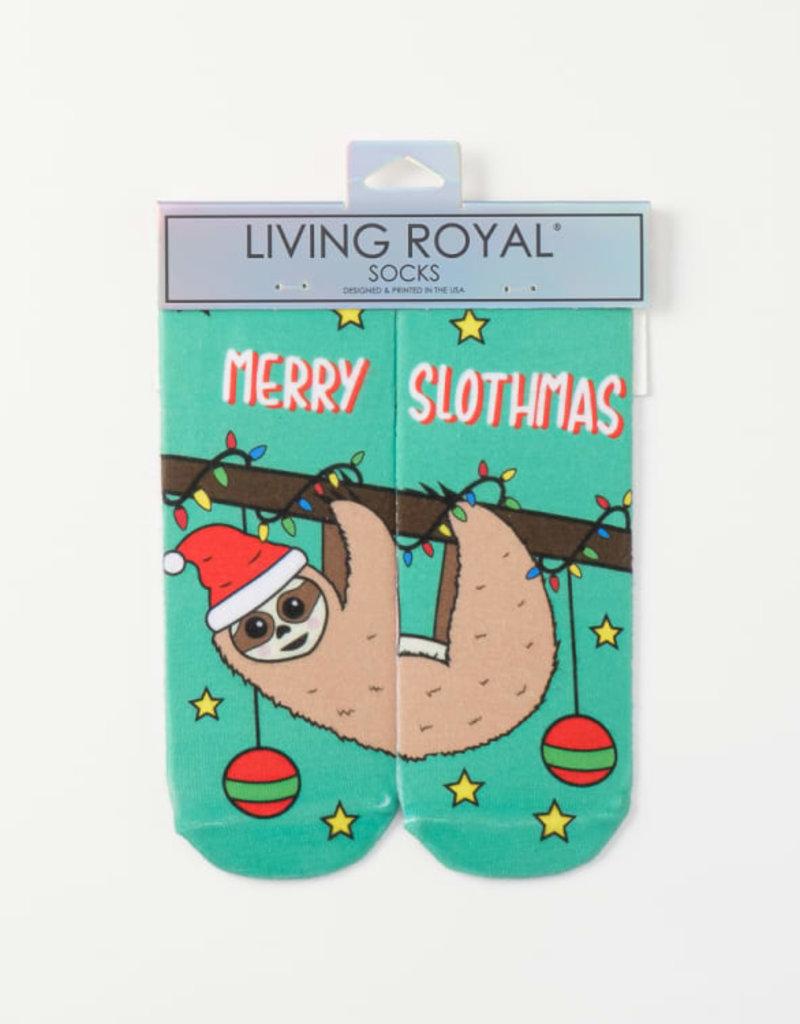 Living Royal Merry Slothmas Ankle Socks