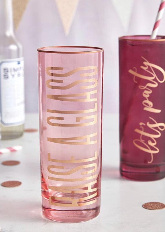 Slant Collections 17oz Collins Glass - Let's Party