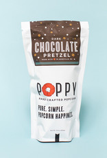 Poppy Handcrafted Popcorn Dark Chocolate Pretzel Market Bag