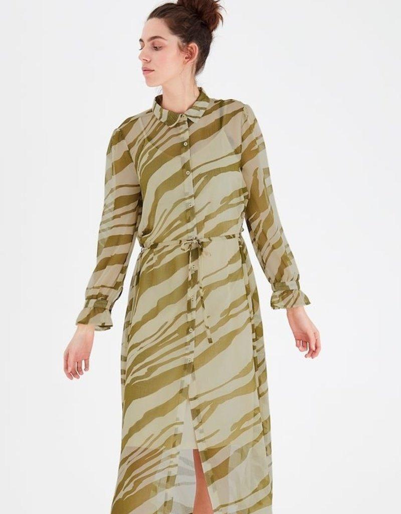 ICHI IHBIKKA Dress Fir Green