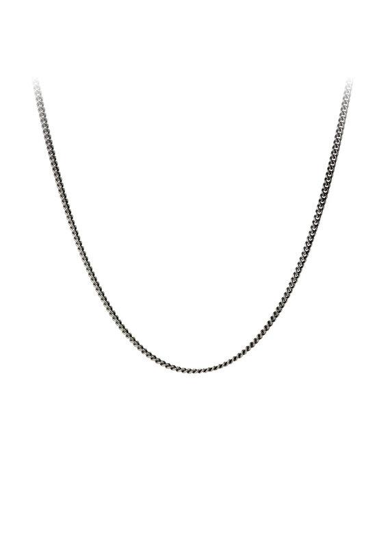 """Pyrrha 26"""" Fine Curb Chain, Silver"""