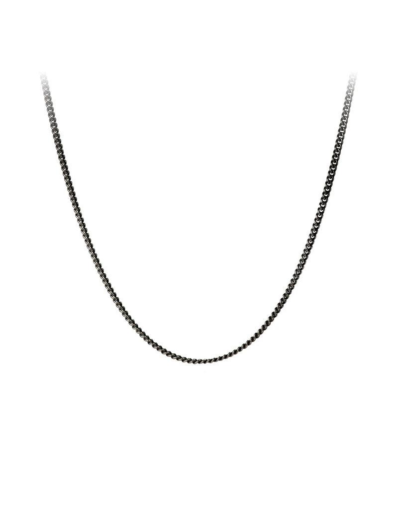 """Pyrrha 26"""" Fine Curb Chain, Black"""