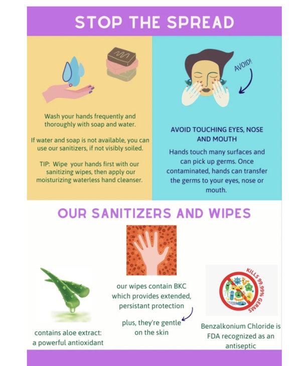 Hand Sanitizing Wipes -10 pk