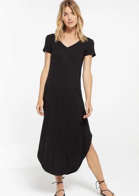 Zsupply Reverie Rib Dress, Black