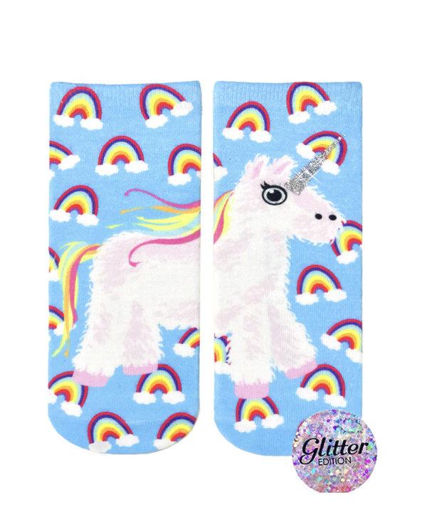 Unicorn Pinata Glitter Ankle