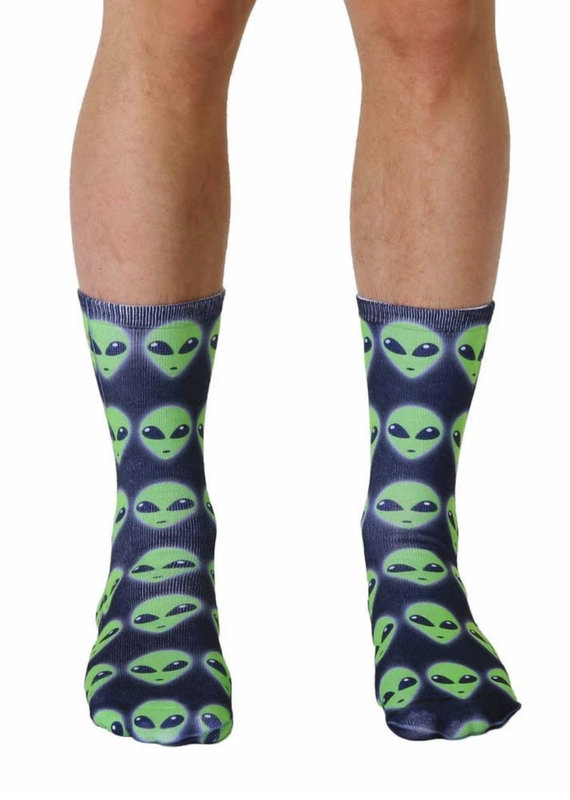 Living Royal Alien Crew Socks