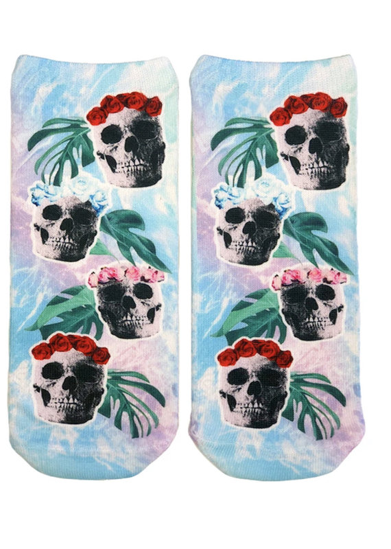 Living Royal Floral Skull Ankle