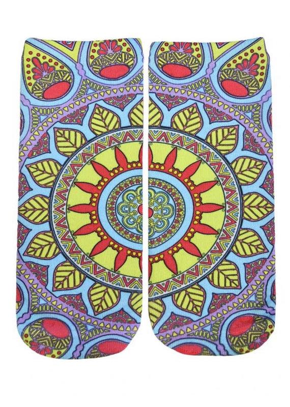 Living Royal Neon Mandala Ankle
