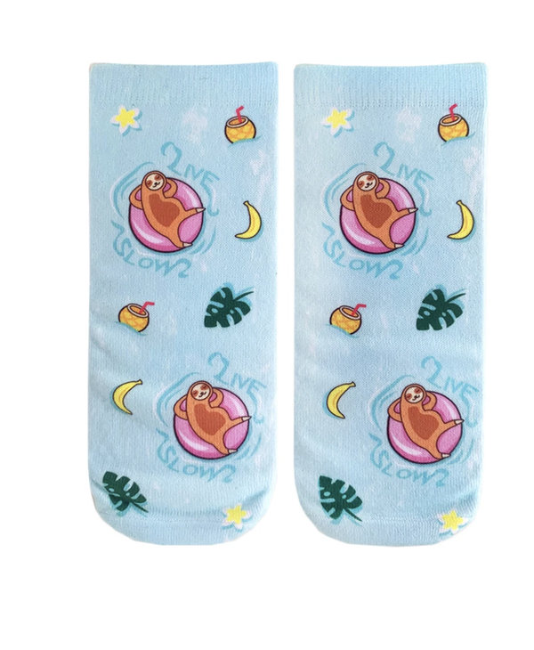Pool Sloth Ankle Socks