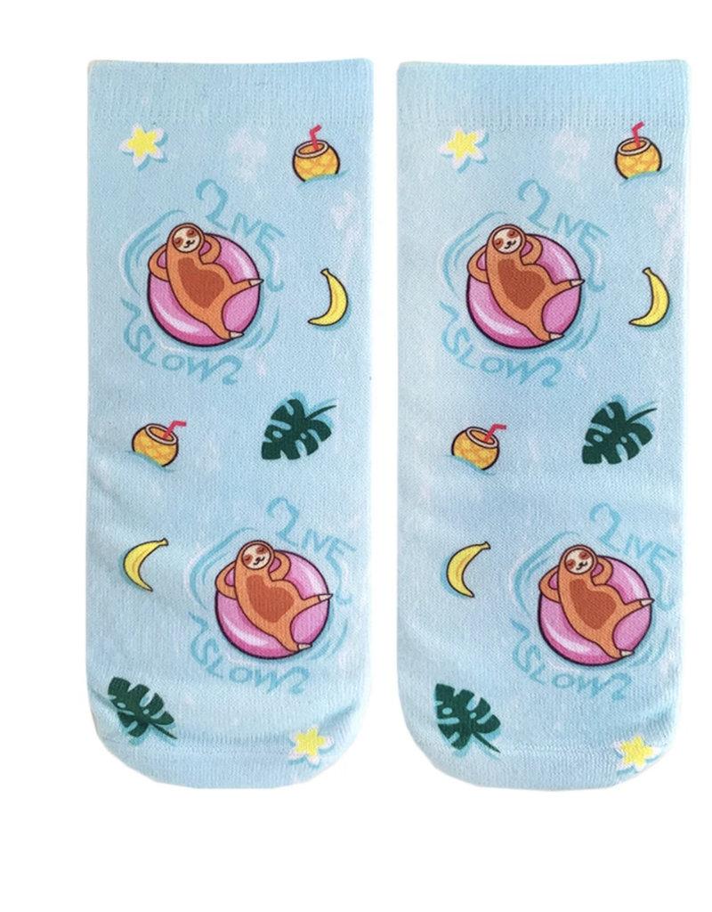 Living Royal Pool Sloth Ankle Socks