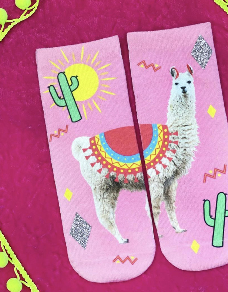 Living Royal Peru Llama Glitter Ankle