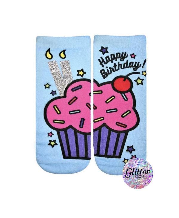 Birthday Cupcake Glitter Ankle