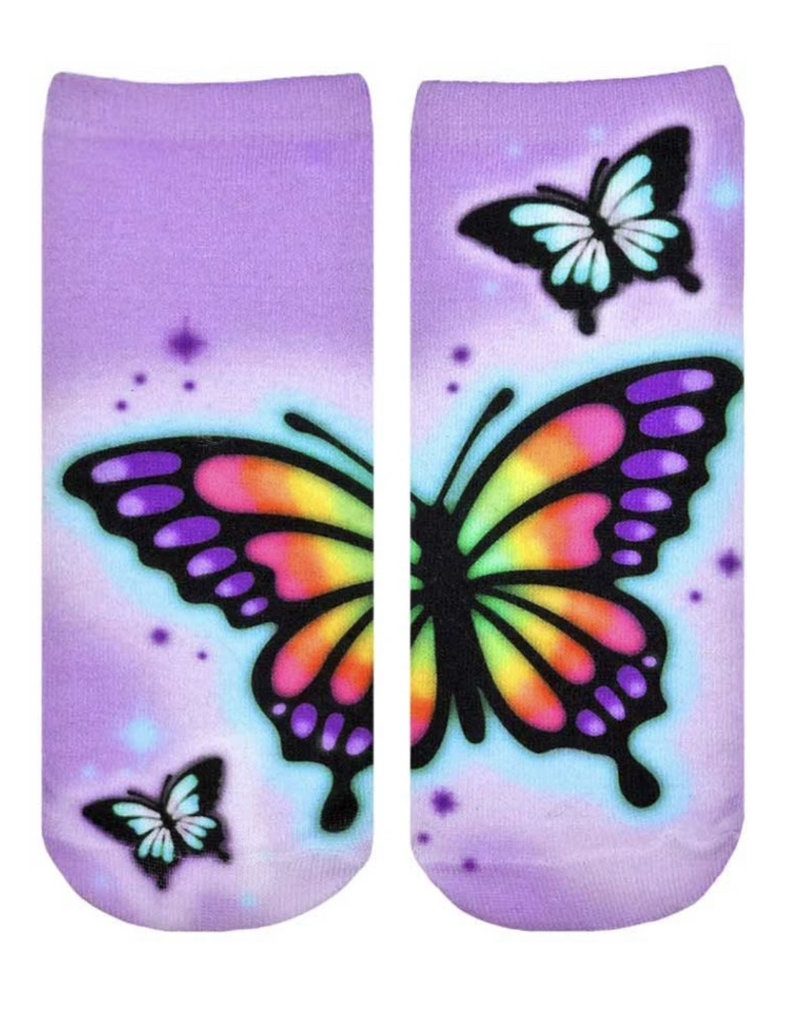 Living Royal Butterfly Airbrush Ankle