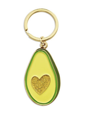 The Found Avocado Heart Key Chain