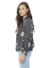 Saltwater Luxe Floral Bomber Raven