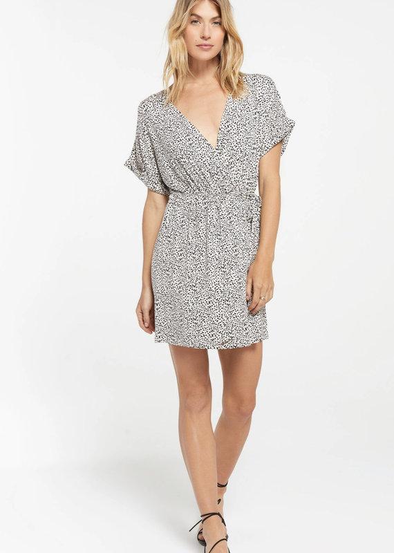 Zsupply Torre Mini Leopard Wrap Dress