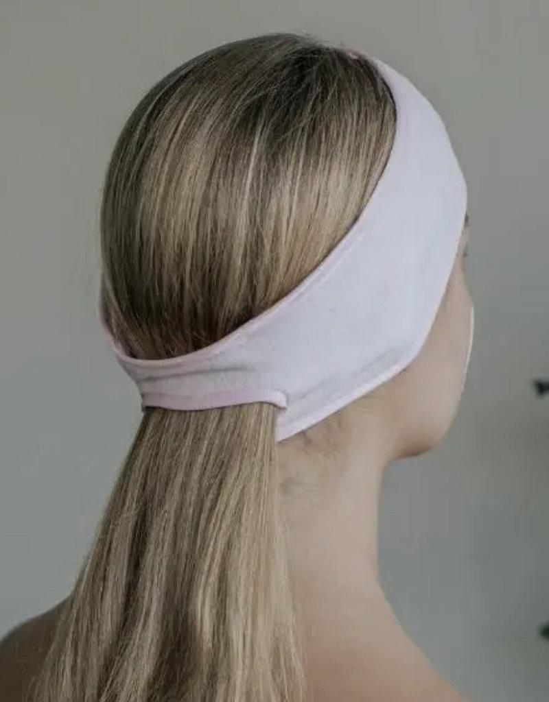 KITSCH Microfiber Spa Headband, Blush