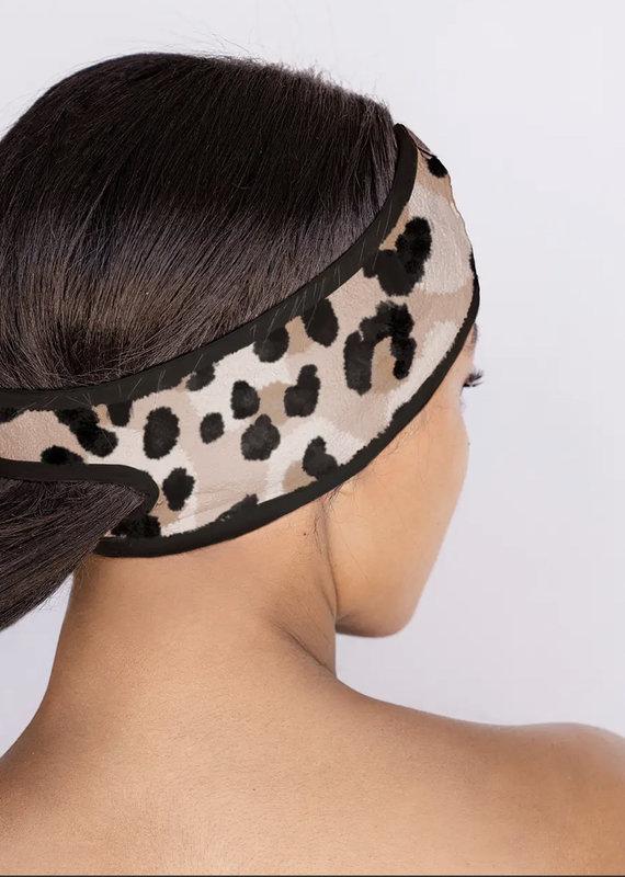 KITSCH Microfiber Spa Headband, Leopard