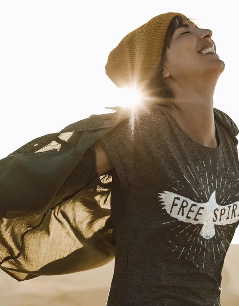 Alley & Rae Apparel Free Spirit Tee Shirt Dark Grey