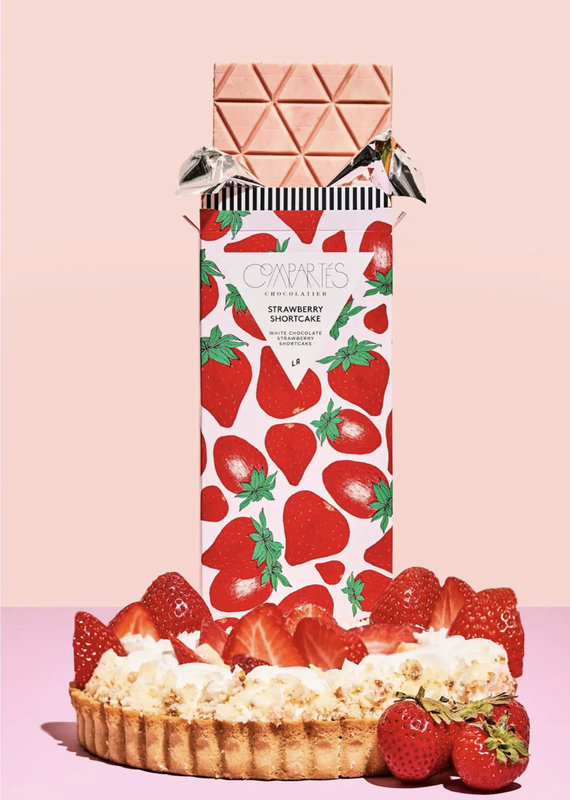 Compartes Chocolates Strawberry Shortcake Chocolate Bar