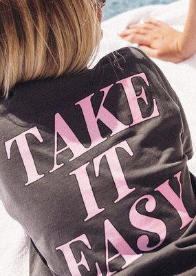 FRIDAY + SATURDAY Take It Easy Pocket Tee