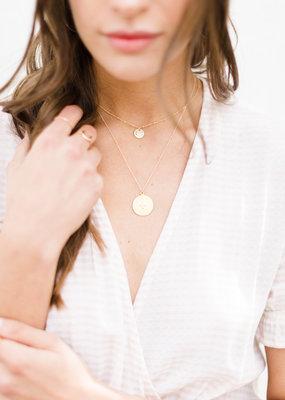 lavender & grace Mini Coin Necklace