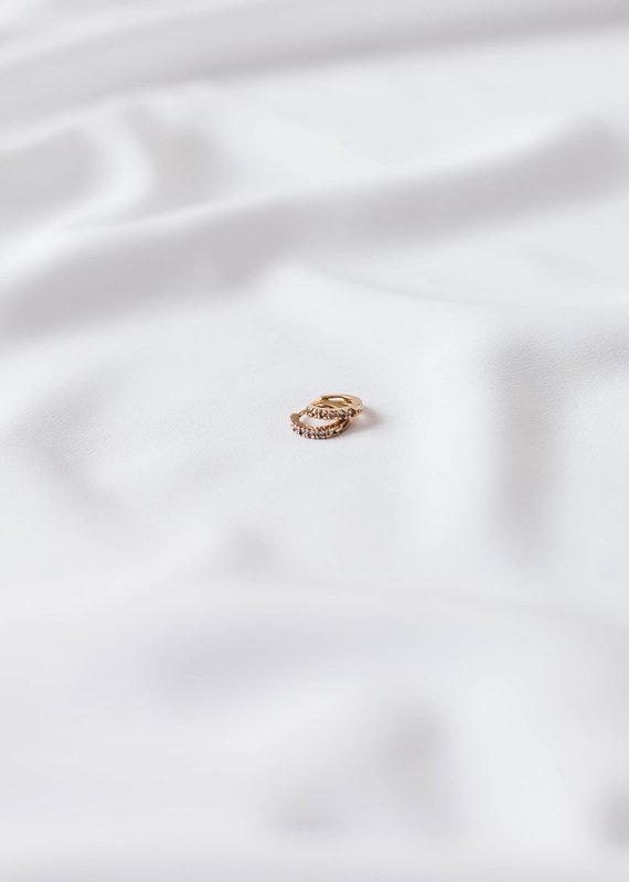 lavender & grace Capicorn Huggies, 14K Gold Filled