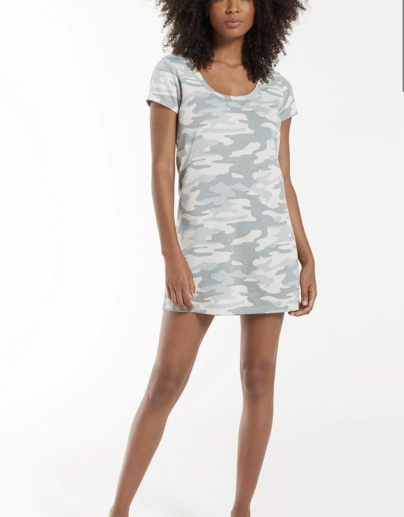 Zsupply Payton Camo Dress, Dusty Sage
