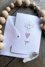 Gold Moon Artistry Eye Love You Card