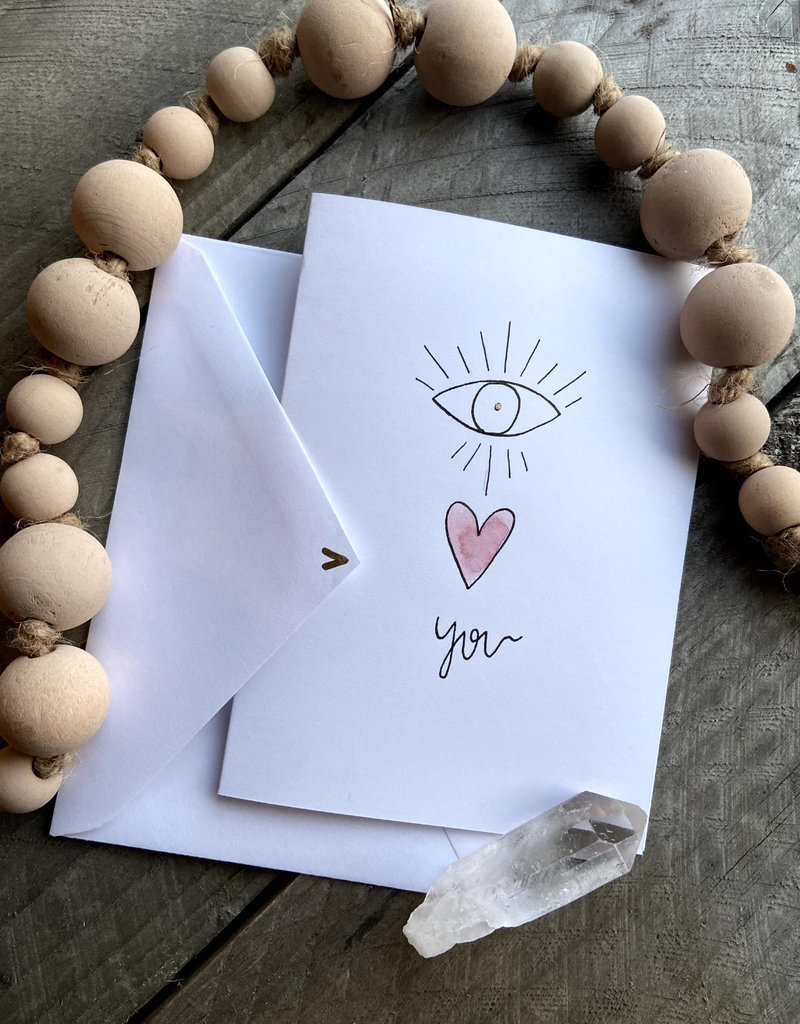 Gold Moon Artistry Eye Love You Card