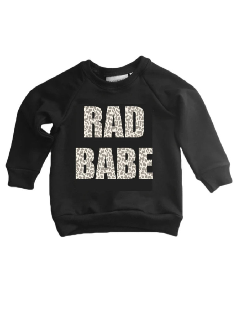 Portage & Main Rad Babe Leopard Youth Raglan