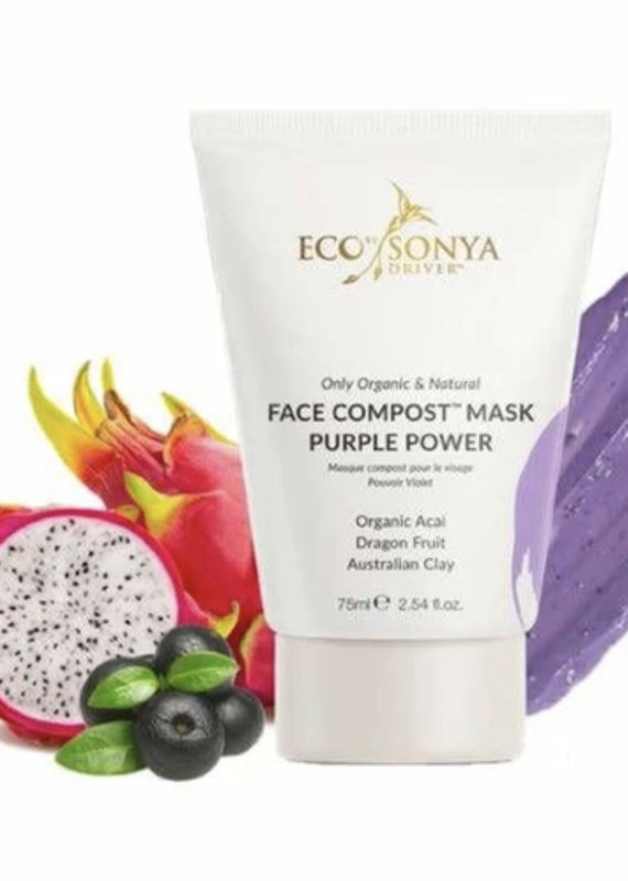 Eco Tan Face Compost Mask Purple Power