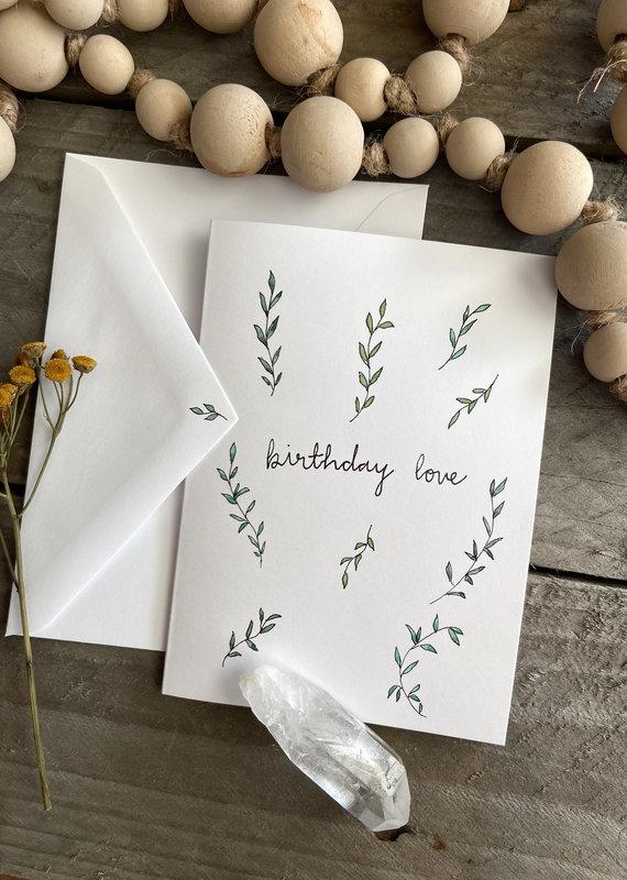 Gold Moon Artistry Birthday Love & Leaves Card