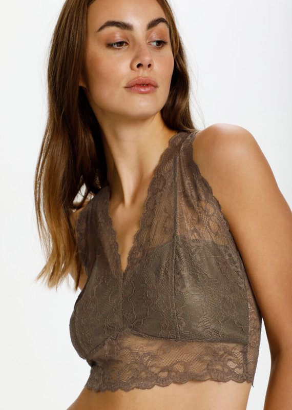 Soaked In Luxury Dolly Bralette Military Olive