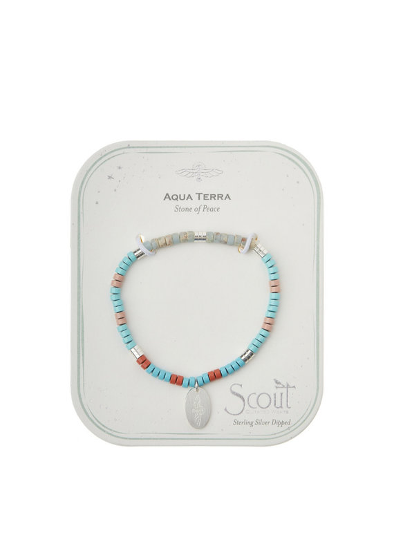 Scout Charm Bracelet, Aqua Terra/Sil