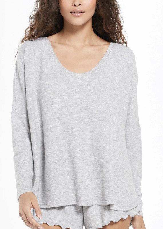 Zsupply Hang Out Long Sleeve Top, Grey