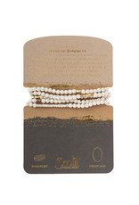 Scout White Lava Necklace, Stone of Strength