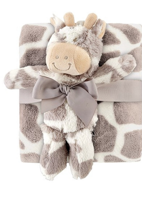 Stephan Baby Giraffe Blanket Toy Set