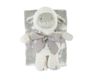 Lamb Blanket Toy Set