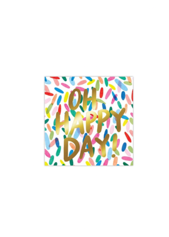 Slant Collections Oh Happy Day Napkins 20ct