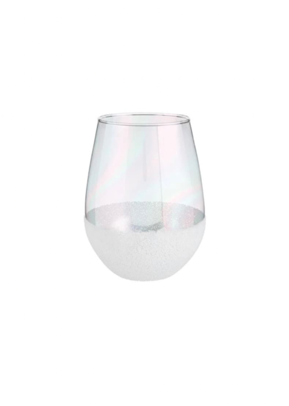 Slant Collections 30oz Stemless - White Bead