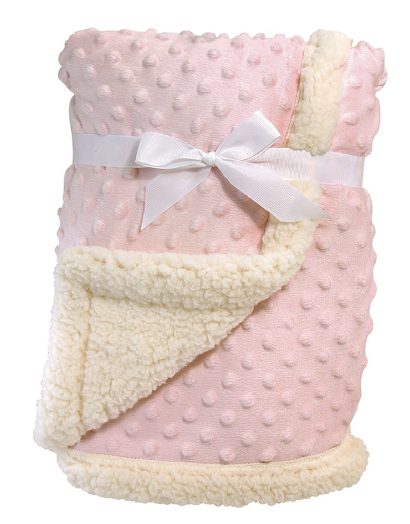 Stephan Baby Sherpa Blanket, Pink