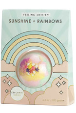 Feeling Smitten Sunshine  + Rainbows Bath Bomb (Keychain)